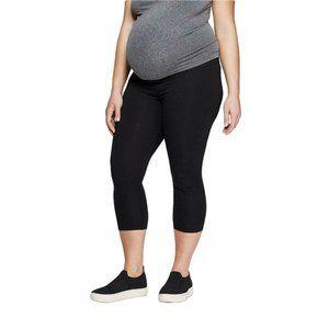 NWT Isabel Maternity Capri Leggings Medium Black